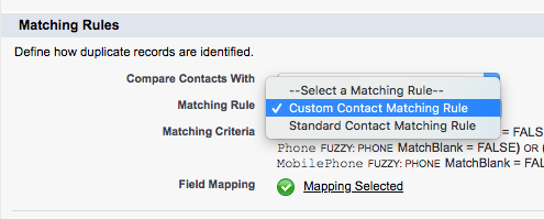 How to Configure New Contact Duplicate Matching Feature