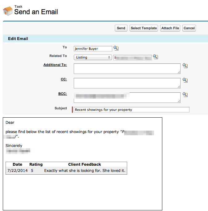 Showings Report Template – Propertybase Help Center