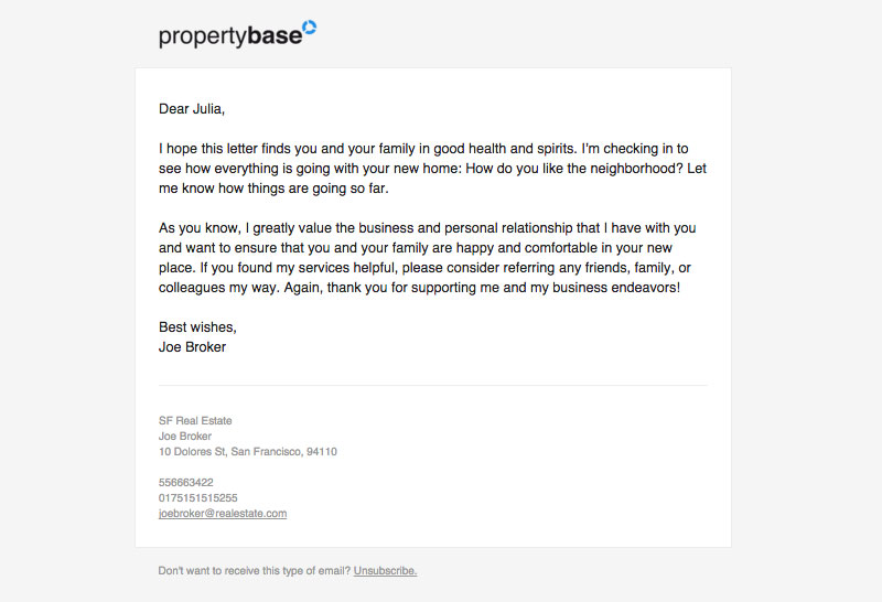 Propertybase Example Templates Propertybase Help Center